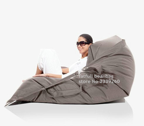Cobrem apenas No Filler-cor cinza Escuro mobília ao ar livre cadeira do saco de feijão, Buggle up cadeira beanbag assento do sofá-Kpecno