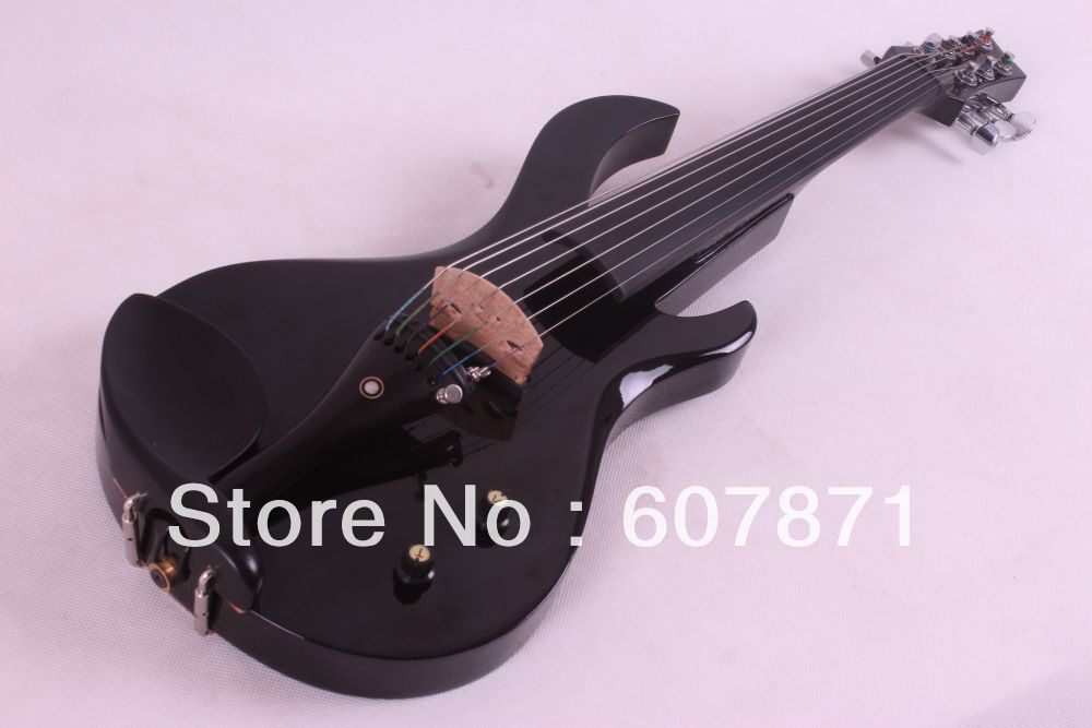 new 7 Strings black  4/4 Electric violin Big Jack Guitar neck