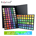 Rosalind Eyes Makeup Beauty Professional 120 Color Eyeshadow 5 Style Eye Shadow Cosmetics Makeup Palette Set maquiagem