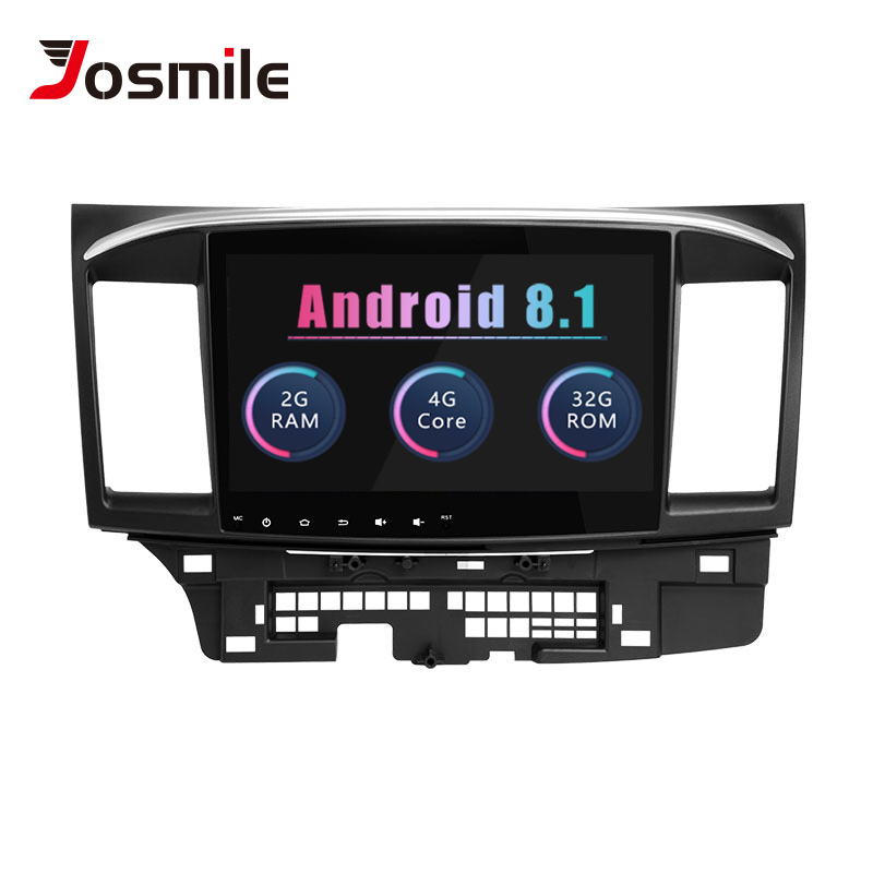 Josmile Car Multimedia Player 2 Din Android 8.1 For Mitsubishi Lancer X 9 102008-201510.1 inch 4G AutoRadio GPS Navigation Audio