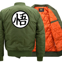 Anime Dragon Ball Z Goku Print Jacket Men Casual Stand Collar Mens Bomber Jackets Baseball Uniform Parka Coat Manteall Homme New