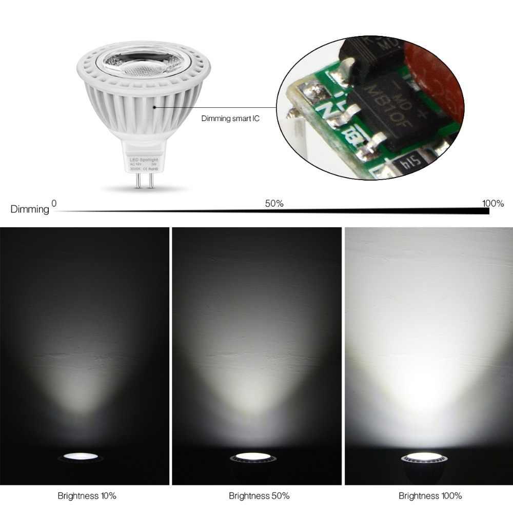MR16 LED 12V AC/DC 12V Spot light Bulb GU 5.3 MR16 Dimmable lamp GU5.3 COB 110V 220V 3W 5W 7W Spotlight AC 85V- 265V Aluminum