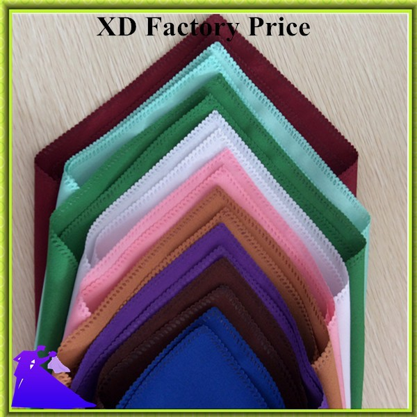 100pcs/lot 100% polyester colorful table napkin for restaurant