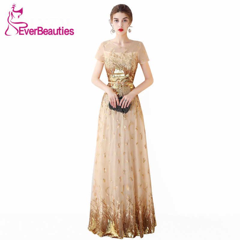 0302933e834 Abendkleider 2019 вечернее платье Длинные Роскошные блесток свадебные гость  длинное официальная Вечеринка исламское вечернее платье De