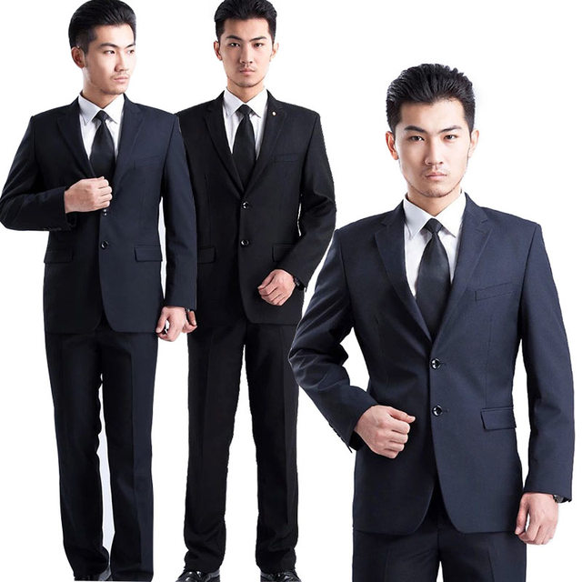 Мода 2017 г. Для мужчин Slim Fit деловой Блейзер костюм рабочий офис-менеджер интервью Бизнес носить Пиджаки для женщин комплект H9
