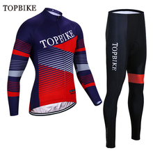 TOPBIKE Winter Thermal Fleece Cycling Jersey Long Sleeve Cycling Clothing suits ropa ciclismo invierno hombre termica 2018