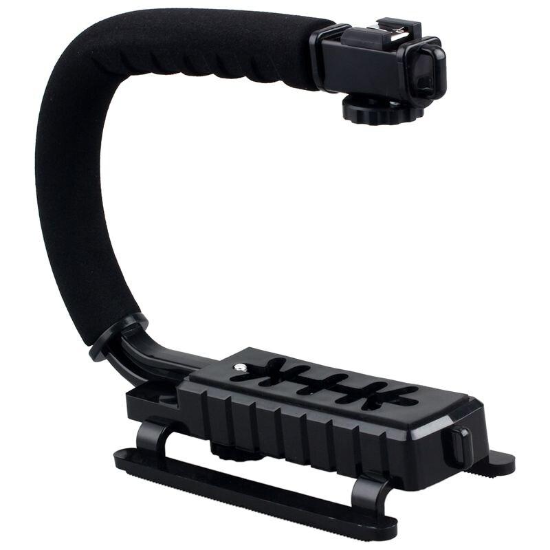 ABHU-Pro Stabilizer C-Shape Bracket Video Handheld Grip fit for Camcorder Camera DSLR