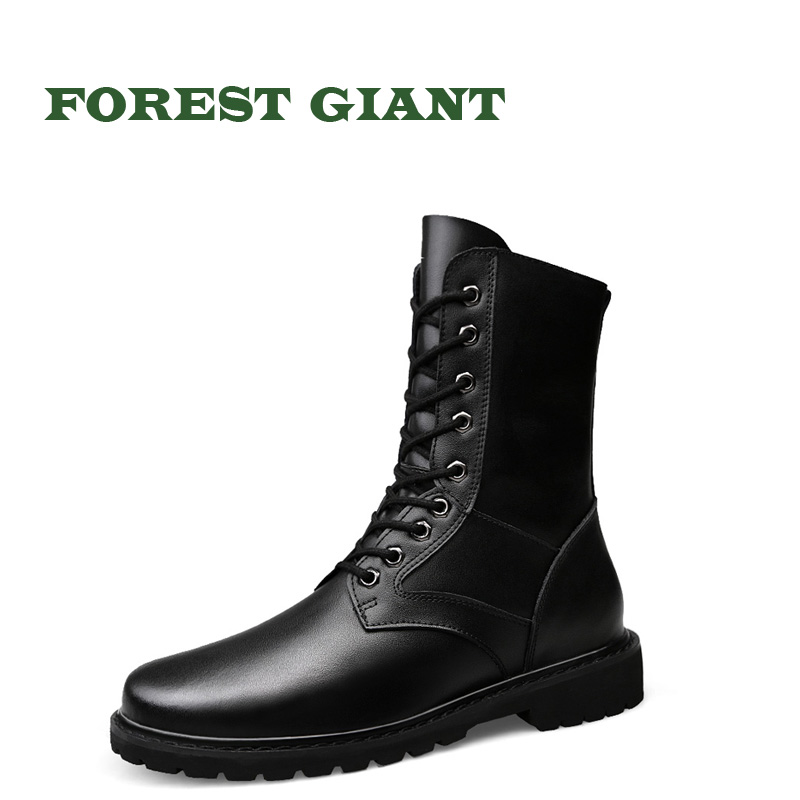 FOREST GIANT Men Genuine Leather Boots Men Breathable High Top Shoes Men Winter Outdoor Casual Shoes Autumn Winter Boots 1198 цены