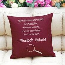 Sherlock Holmes Cushion Cover