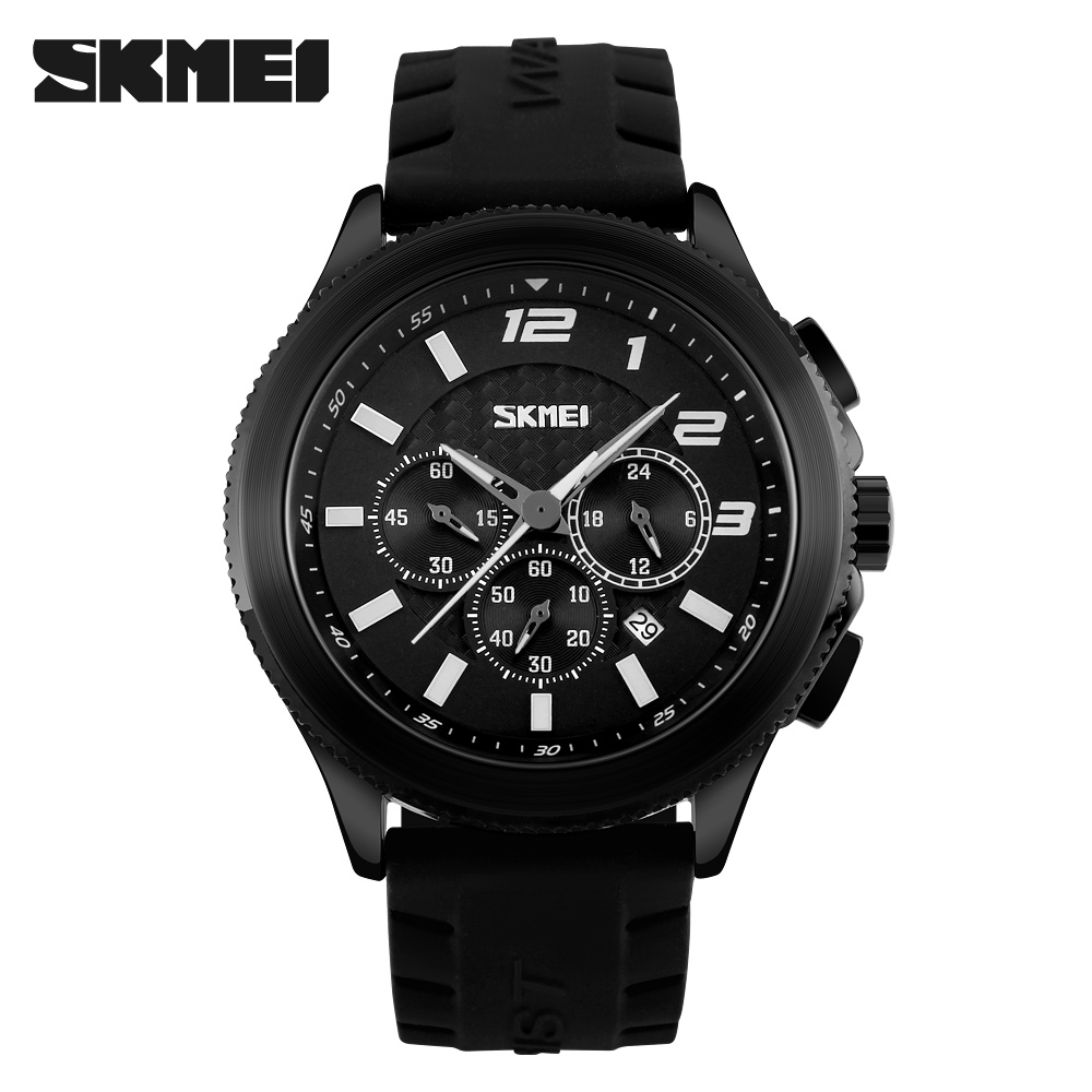 SKMEI Mode Heren Drie Wijzerplaten Quartz Horloge Casual Sport - Herenhorloges