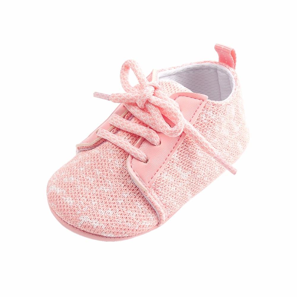 Nowy projekt Shallow Cotton Fabric Dots Sznurowane Wiosna Newborn - Buty dziecięce - Zdjęcie 1