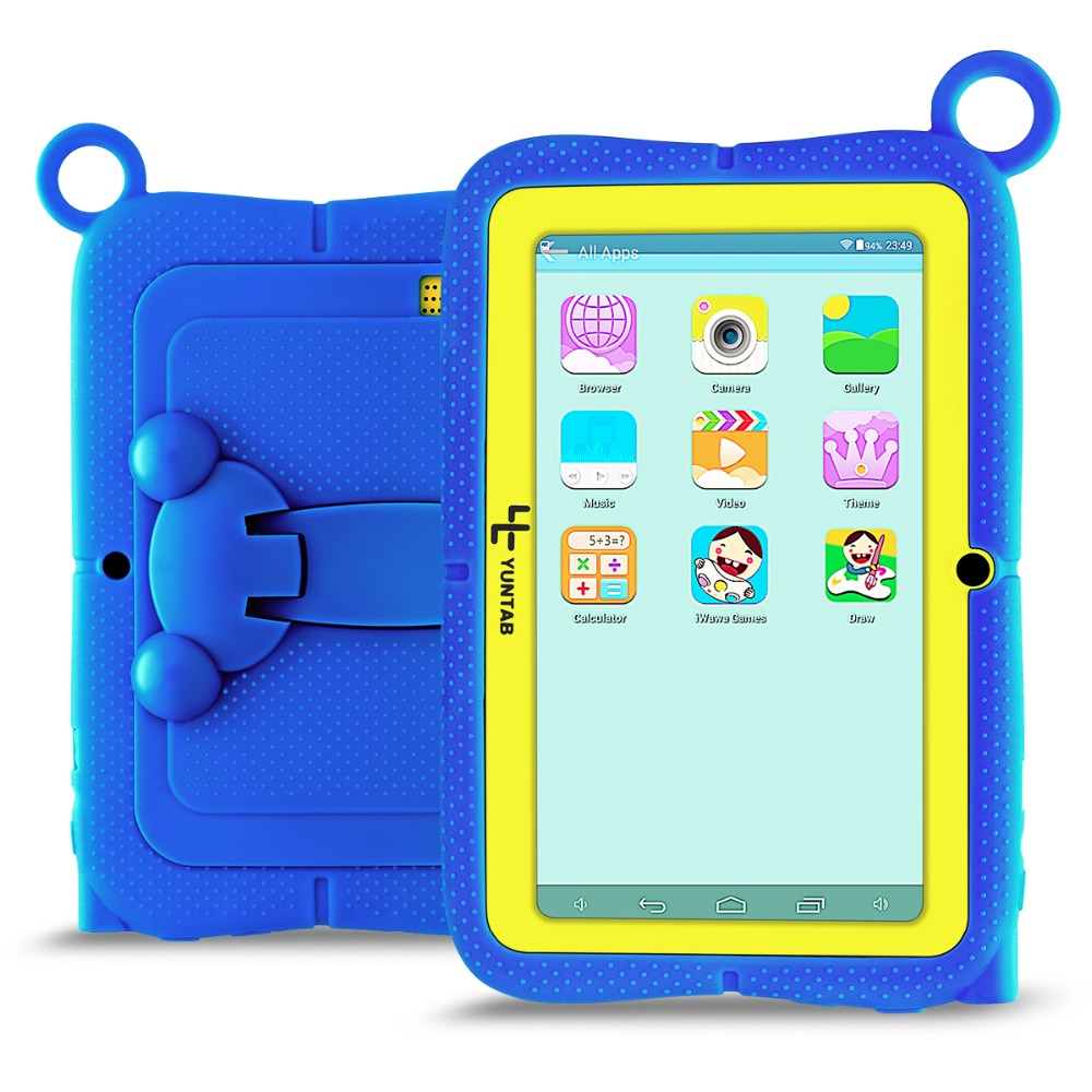 New Arrival!! YUNTAB 7inch Q88R iWawa kids tablet PC,parental control software and iWawa kids tablet with chic stand case (blue)