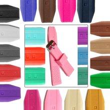 Ремешок силиконовый для женских часов резиновый розовый желеобразный