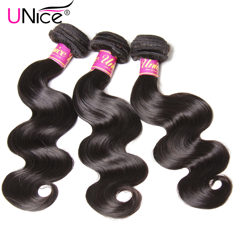 Image 3 - UNice Hair Peruvian Body Wave Hair Bundles 100% Human Hair Extensions 8 30inch Remy Hair Weaving Natural Color 1 Piece-in Hair Weaves from Hair Extensions & Wigs