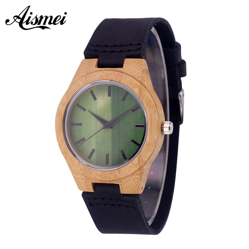 2018 Luxury Brand Women Bamboo Wood Watches ladies Quartz Clock Fashion Casual Leather Strap Wrist Watch Female Relogio rigardu fashion female wrist watch lovers gift leather band alloy case wristwatch women lady quartz watch relogio feminino 25