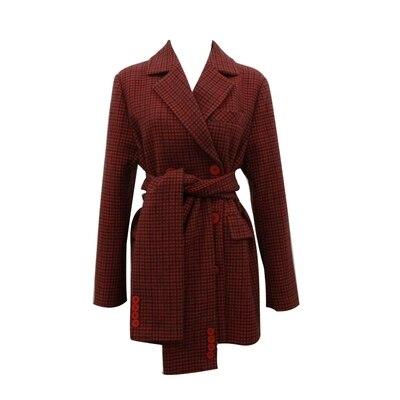 Europäische Marke Neue Designer 2019 Herbst frauen Vintage Plaid Blazer feminino Zweireiher Jacke