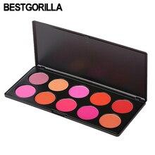 BESTGORILLA 10 Colors Colorete Peach Palette Blusher Makeup Cosmetic Blush Powder Pink Rose Cora