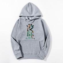 WIPU 2019 New Fashion Kyrie Irving Print Mens Hoodies Sweatshirts Hip Hop Hoodie Black Jacket Men Clothes fashion Sweatshirt men