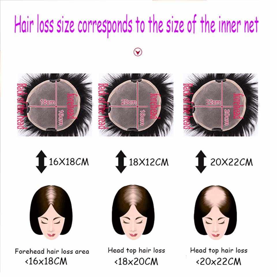 HOUYAN 100% человеческие волосы кружево PU Замена Топ Глава Toupees Синтетические прямые чёрный; коричневый Клип в воздухе синтетические челк