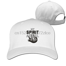 f0ffb707a40 Print Custom Baseball Cap Hip Hop Peaked Cap Unisex Adult My Spirit Animal  Sloth Plain Baseball Cap Snapback Hat