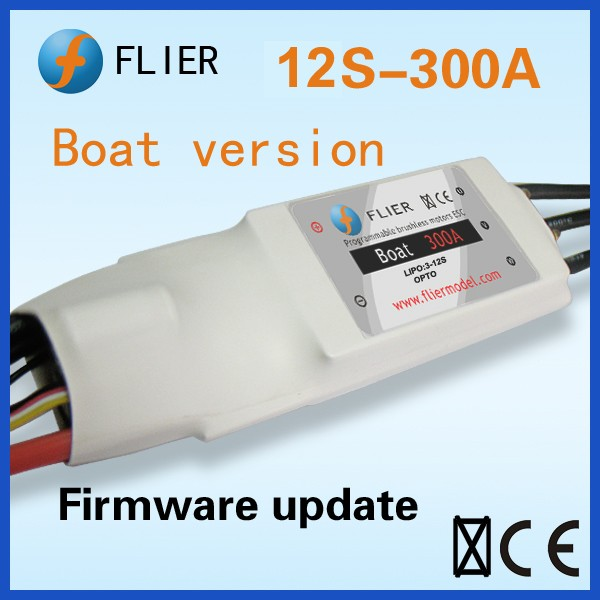 Flier Watercooled brushless esc 12S 300A for RC boat with programming USB Wires