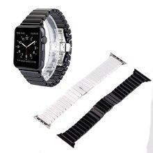 Alta calidad de lujo de la mariposa de bloqueo pulsera de cerámica para apple watch iwatch venda de reloj 42mm 38mm