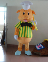 mascot costumes Yellow Pig Mascot Costume Christmas Dress Holiday special clothing for Halloween party event