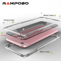 For IPhone 6 6s Cases Cover Aluminum Frame For IPhone6 6S 7 Plus Phone Case Clear