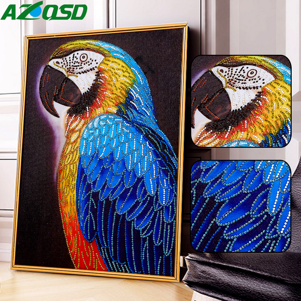 AZQSD Diamond Painting Parrot DIY Special Shaped Picture Of Rhinestones Bird Diamond Embroidery Animal Decoration Home 40x50cm AZQSD Diamond Painting Parrot DIY Special Shaped Picture Of Rhinestones Bird Diamond Embroidery Animal Decoration Home 40x50cm