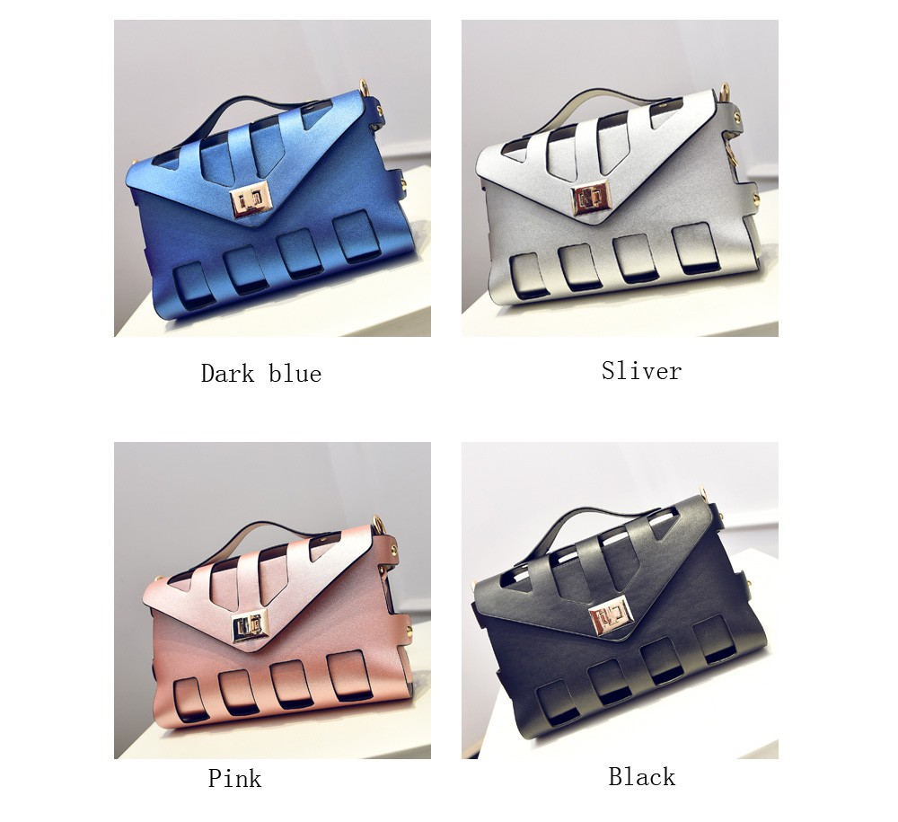 Hollow Out Messenger Women Bag Solid Shoulder Bags High Quality Leather Cross Body Bags Herald Fashion New Arrival (1)