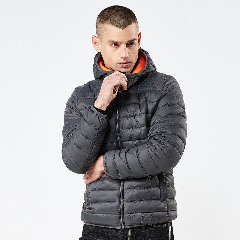 Outwear Veste D'hiver Hommes Ultra-Léger Coton Vers Le Bas Léger Manteaux Mode Classique Manteaux Plus La Taille S-XXXL