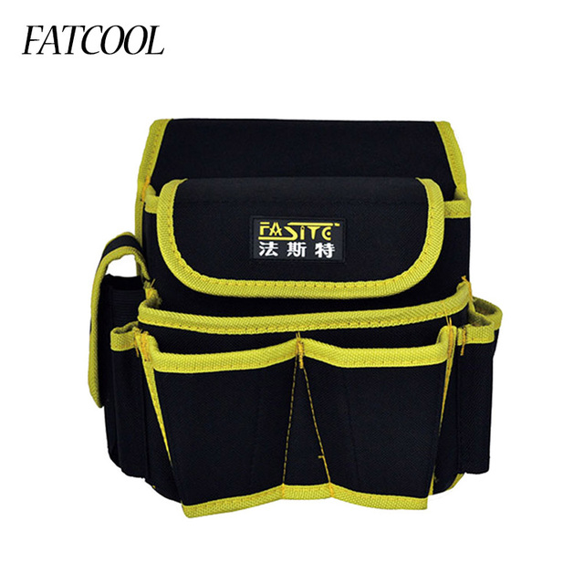 867a8044cd02 FATCOOL 600D Oxford Fabric Electrician Waist Bag Waterproof Tool Bag Holder  Organizer Pouch with Work Belt