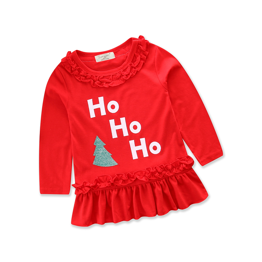 Autumn A-line <font><b>Dresses</b></font> <font><b>Christmas</b></font> <font><b>Dress</b></font> Toddler Baby <font><b>Girl</b></font> <font><b>Red</b></font> <font><b>Long</b></font> <font><b>Sleeve</b></font> Cotton Cute Clothes Kids <font><b>Dresses</b></font> for <font><b>Girls</b></font> Size 1-5Y image