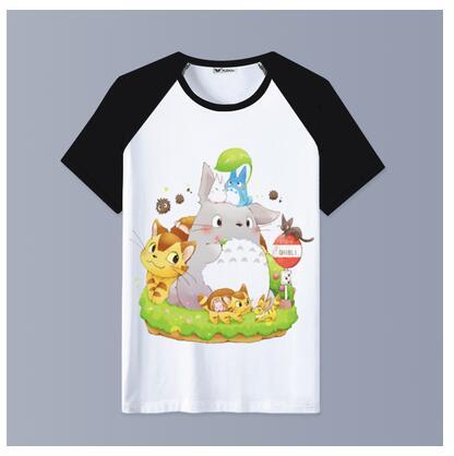 Harajuku Totoro T-shirt O-Neck Short Sleeve Cotton Women Tshirt Summer Top Graphic Tee Shirt Men T shirt New Arrival 2019 korean