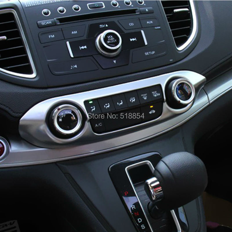 Fit For 2012 2013 2014 2015 Honda Cr V Crv Chrome A C Switch Knob Panel Cover Trim Frame