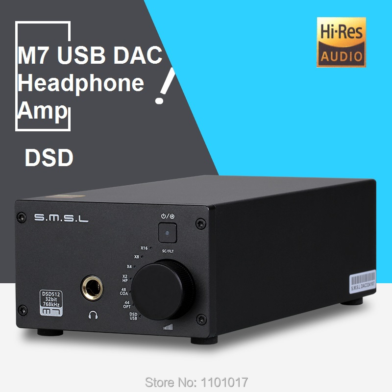 SMSL M7 DAC AK4452 DSD512 Headphone Amplifier HIFI EXQUIS S.M.S.L. Amp USB XMOS 32Bit 768kHz s m s l smsl t1 dac tube headphone amplifier preamplifier hifi exquis dsd 512 384khz xmos usb decoder pre amp earphone amp