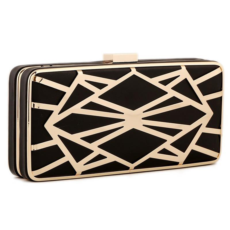 2017 Hollow Out Fashion Women Evening Bags Clutch Vintage Shoulder Black Gold Pu Leather Small Purse Holder Coin In Clutches From Luggage