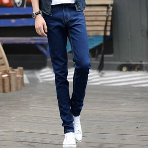 Image 5 - Lguc. h estiramento rasgado calças de brim dos homens 2020 moda masculina calças de brim casuais verão outono homem preto azul denim calças dos homens 27 28 36