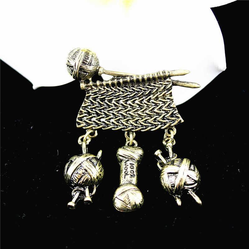 XQ مطلي البرونزية القديمة ريشة اليقطين تلوح في الأفق اللؤلؤ بروش للرجال اكسسوارات امرأة مجوهرات ريترو السيدات سبائك الزنك شارة