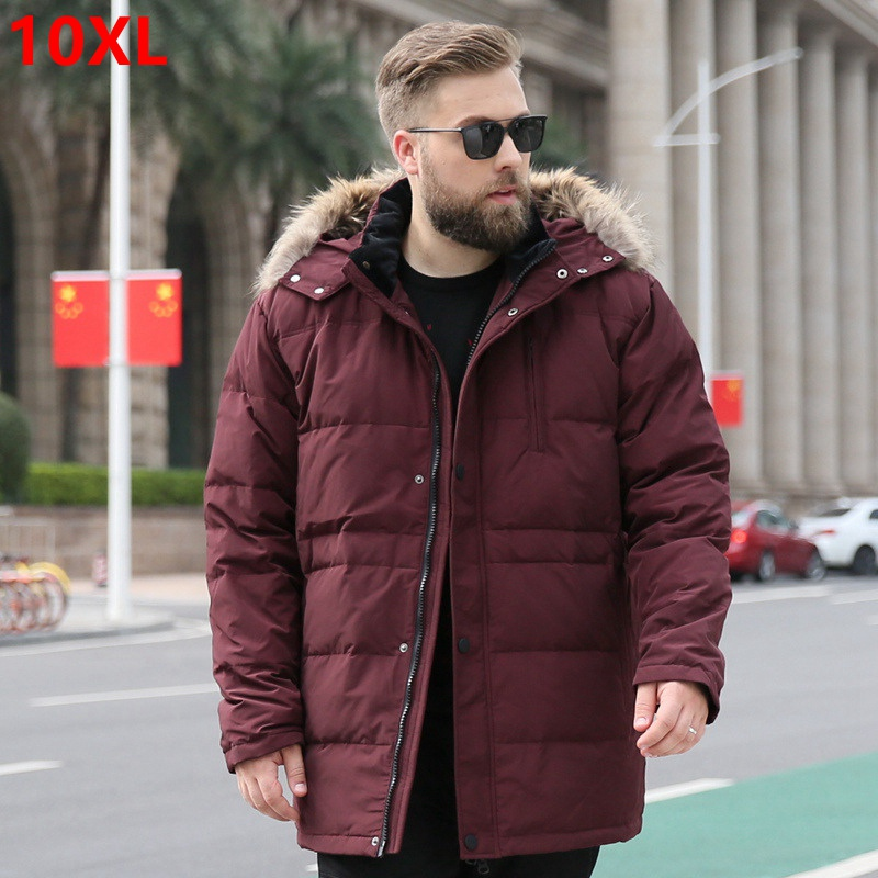 40 degree Russia winter jacket for men medium long genuine fur collar thermal thick keep