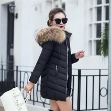 цена на 2019 OL thicken Fur Collar Down Black Coat 100% White Duck Down Jacket Female Winter Jacket Long Thick Parka Hooded Coat M-6XL