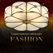 European-style ceiling lamp all-copper American-style living room Chinese-style bedroom dining balcony porch light