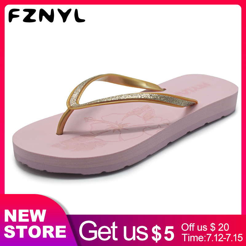 FZNYL Summer Indoor Slippers Female Home House Elastic EVA+Rubber Non-slip Flip Flops Women 2019 Fashion Outdoor Sandals Shoes(China)