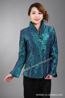 Chinese Traditional Style Costume Women's Satin Jacket Coat Size M to 3XL