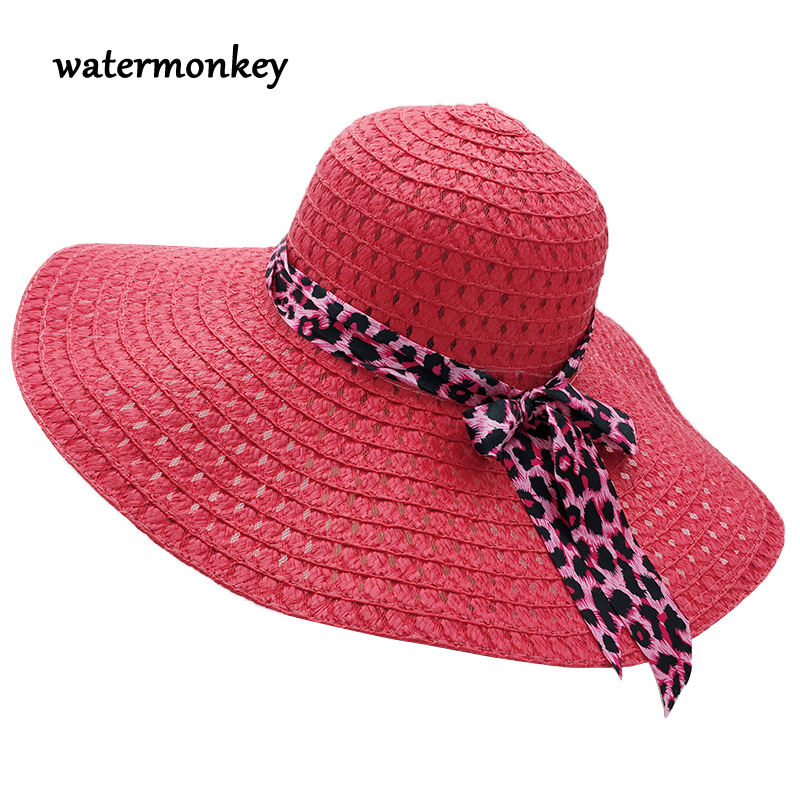 b32b78a80cdcc Summer cap for women Big Brim Straw Hat For Women Holiday Floppy Hat Beach  Hats For Women Suncreen Shade Sun Hats women cap