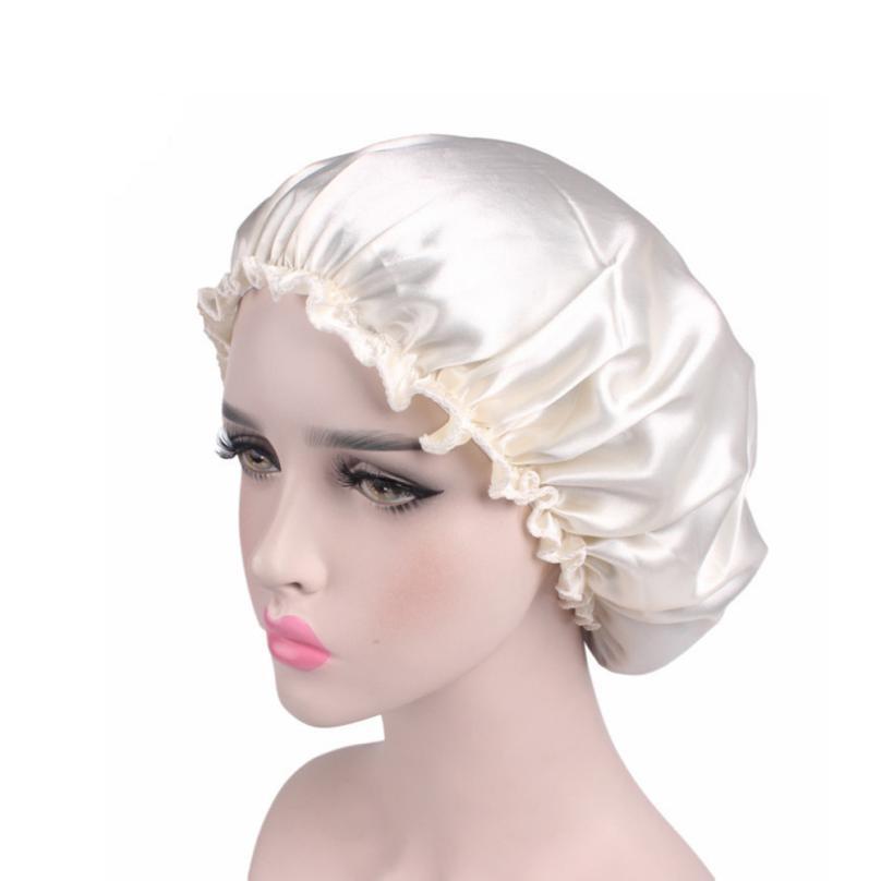 Women Fashion Soft Satin Hair cap resuable protective home salon beauty Hair accessory Dropship 2M0614