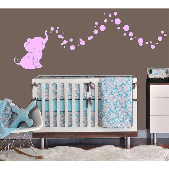 Poomoo Wandtattoos Elefanten Blasen Baby Wandtattoo Vinyl
