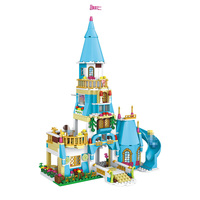 561Pcs Princess Anna Prince Castle Model Building Blocks Kit Classic Eductional LegoINGlys For Girl Best Toys