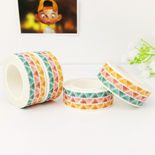 15mm*10m colored triangles Washi Tape DIY decoration scrapbooking planner masking tape adhesive tape label sticker stationery все цены