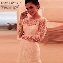 Rose Moda Wedding Dress 2019 Backless Long Sleeves